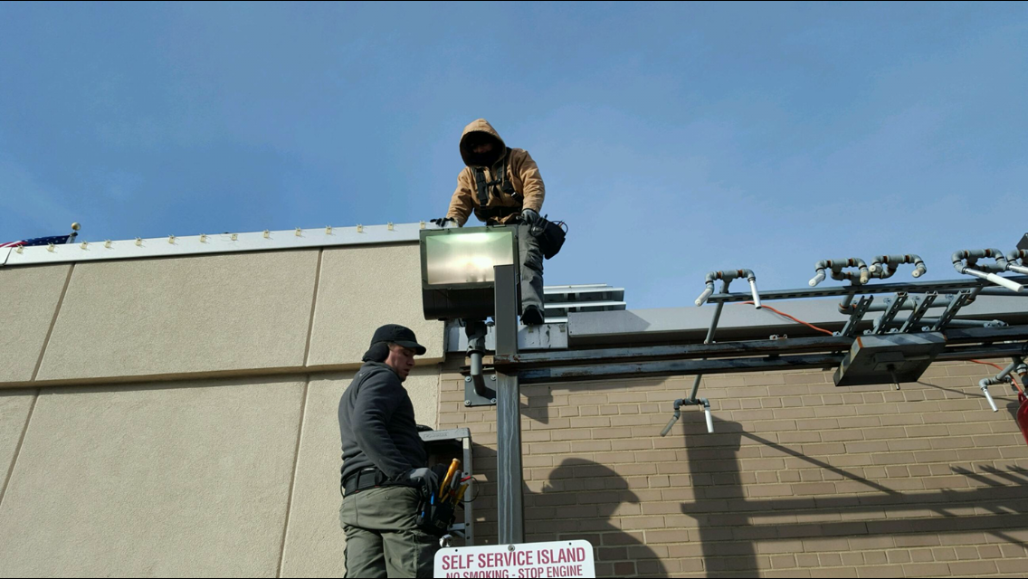 outdoor security light installation 1