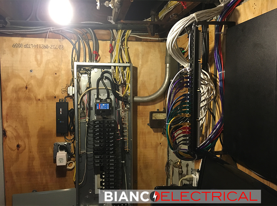 new electric panel install