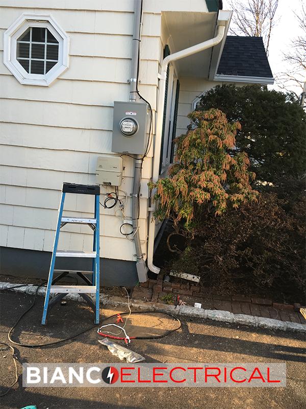 outdoor meter pan installation